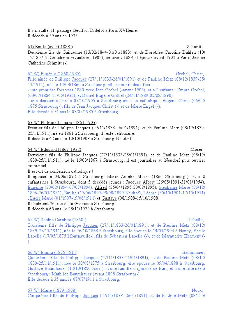 Généalogie des Strohl de Wangen 1810