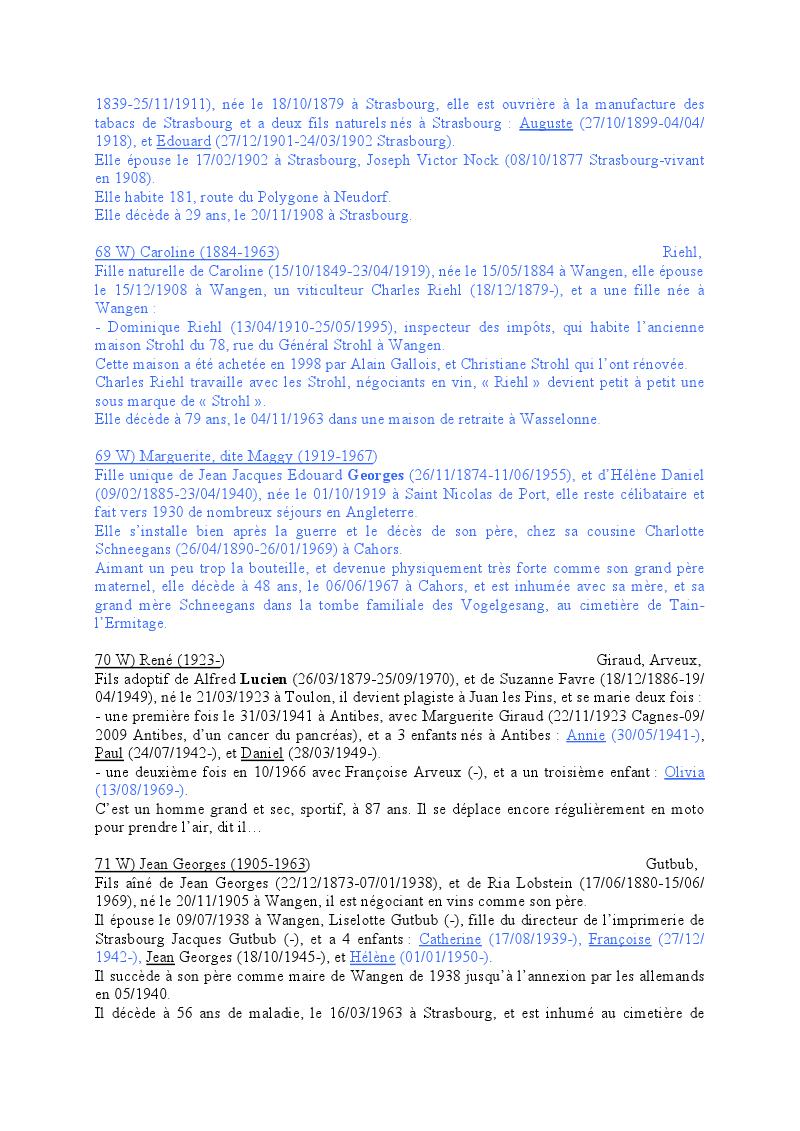 Généalogie des Strohl de Wangen 1910