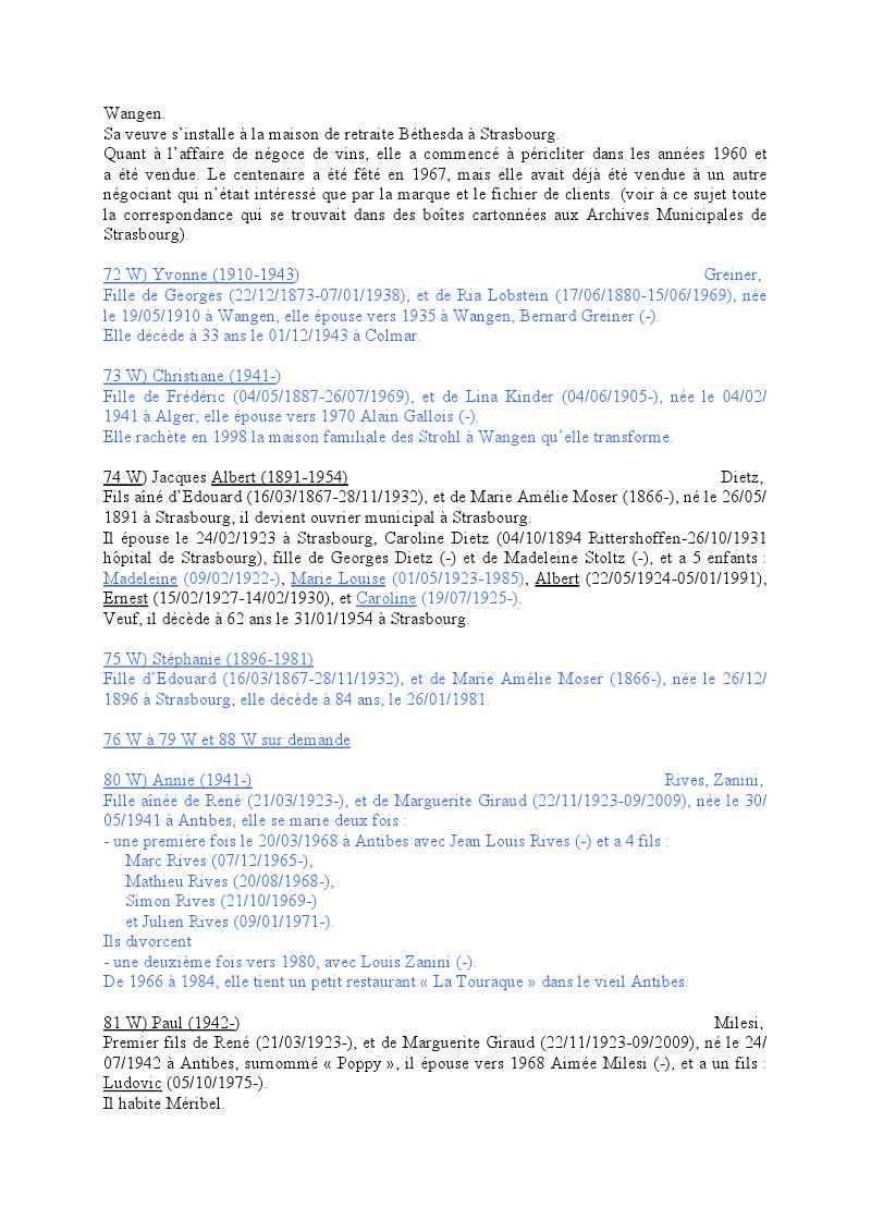 Généalogie des Strohl de Wangen 2010