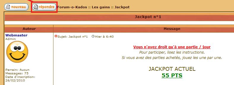 Aide pour jouer Jack110