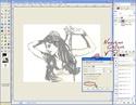 Extraire et Colorier un Line dans GIMP Tutogi29