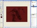 Extraire et Colorier un Line dans GIMP Tutogi32