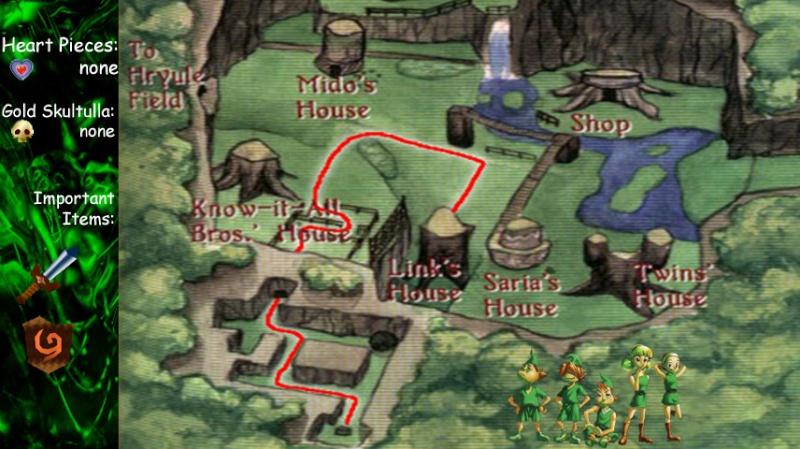 Ocarina of Time: Kokiri Forest - Graphic Map Ocarin11