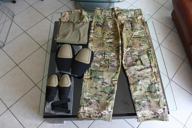 [VDS] Tenue EA Gear Multicam serie Tactical Neuve Taille L Pantalon+Haut+Genouillères/Coudières Img_0210