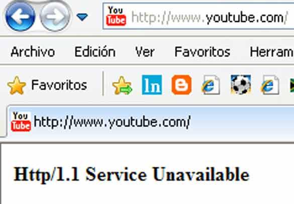 YouTube fuera de servico Youtub10