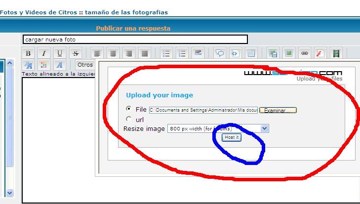 Instructivo de como cargar fotos Cargar11