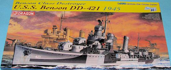 """DD-421 """"USS-Benson""""  Dragon  1/350 1032bt10"""