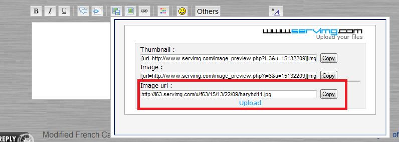 How to upload images off your pc: Upload12