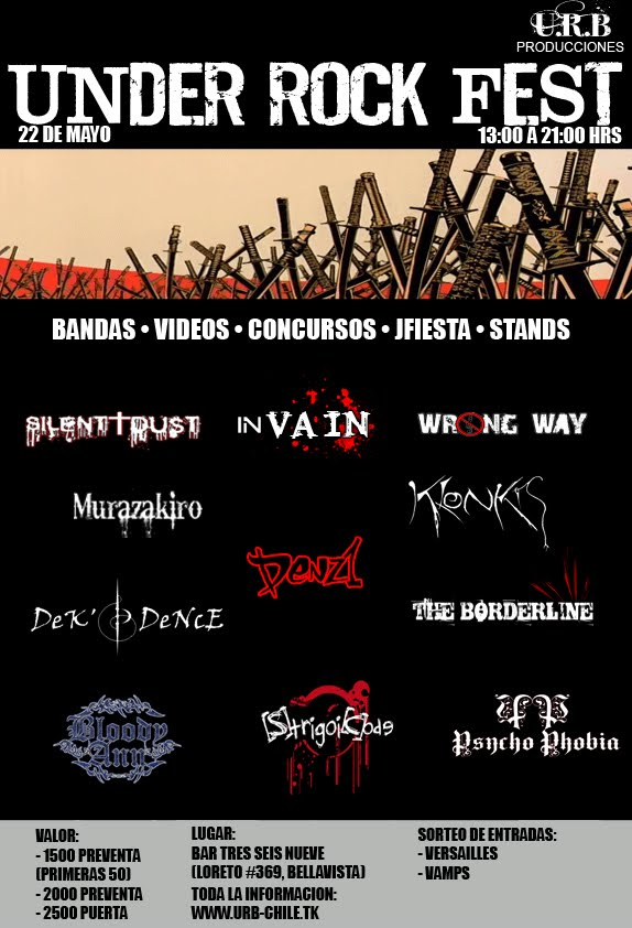 Under Rock Fest; Sabado 22 de Mayo, Bar Under Afiche10