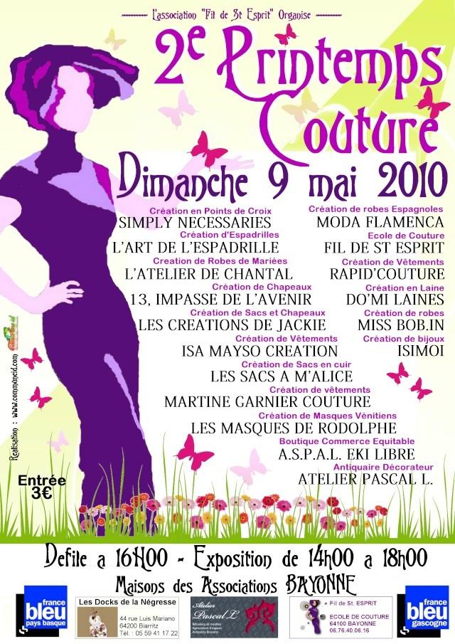 Défilé Printemps Couture - Deuxième Edition 2010 Affich12