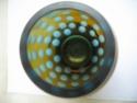 Amber Vase with Duck Egg Blue Lens/Ovals - Sklo Union? Img_0018