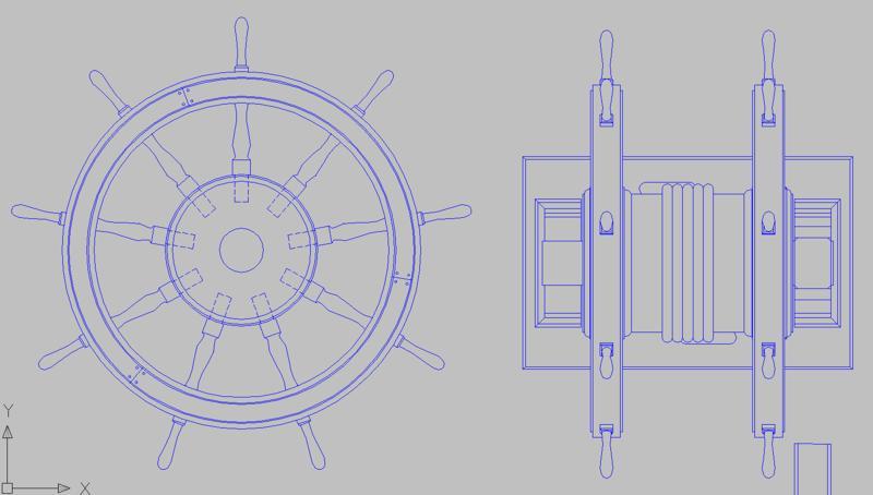 Le double roue du gouvernail Roue_c10