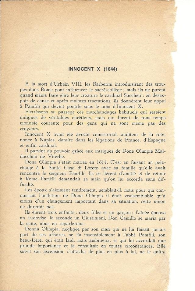 Suite de l'histoire scandaleuse des papes. Innocent X  (1644) Numar105