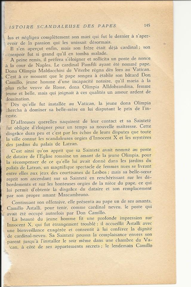 Suite de l'histoire scandaleuse des papes. Innocent X  (1644) Numar106