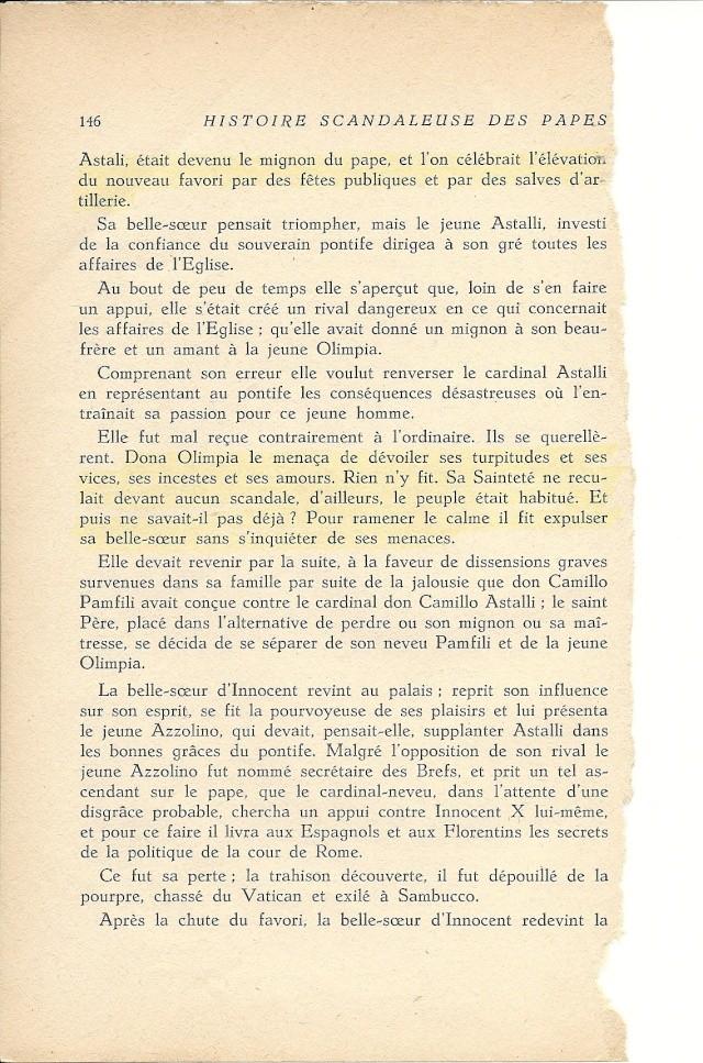 Suite de l'histoire scandaleuse des papes. Innocent X  (1644) Numar107