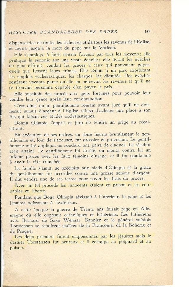 Suite de l'histoire scandaleuse des papes. Innocent X  (1644) Numar108