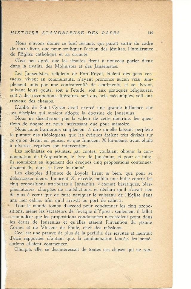 Suite de l'histoire scandaleuse des papes. Innocent X  (1644) Numar110