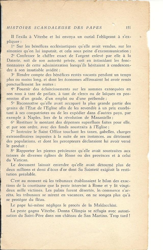 Suite de l'histoire scandaleuse des papes. Innocent X  (1644) Numar112