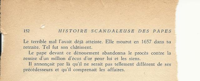 Suite de l'histoire scandaleuse des papes. Innocent X  (1644) Numar113
