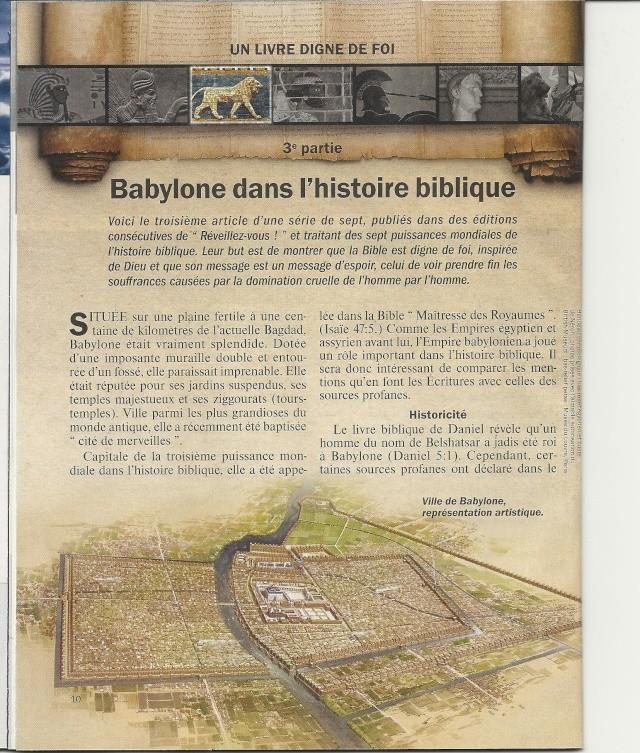 La marche des puissances mondiales  Babylone Numar146