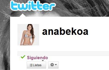 Ana en Twitter