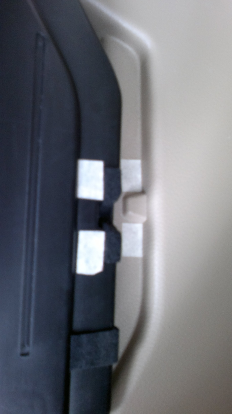 How to use velcro to secure hidden rear cargo cover  20032013