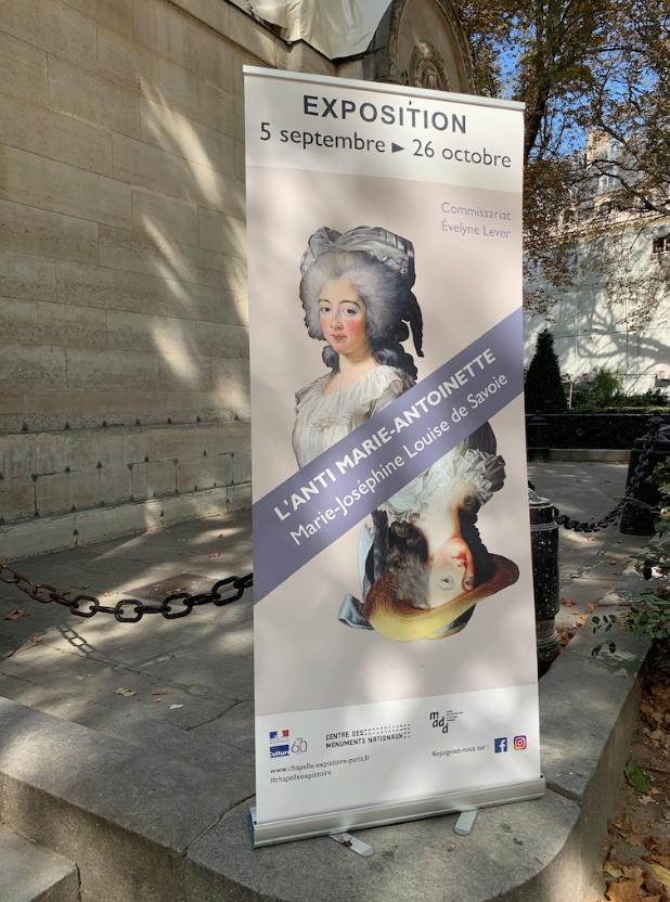 Exposition « L'anti Marie-Antoinette : Marie-Joséphine Louise de Savoie » à la chapelle expiatoire Captu312