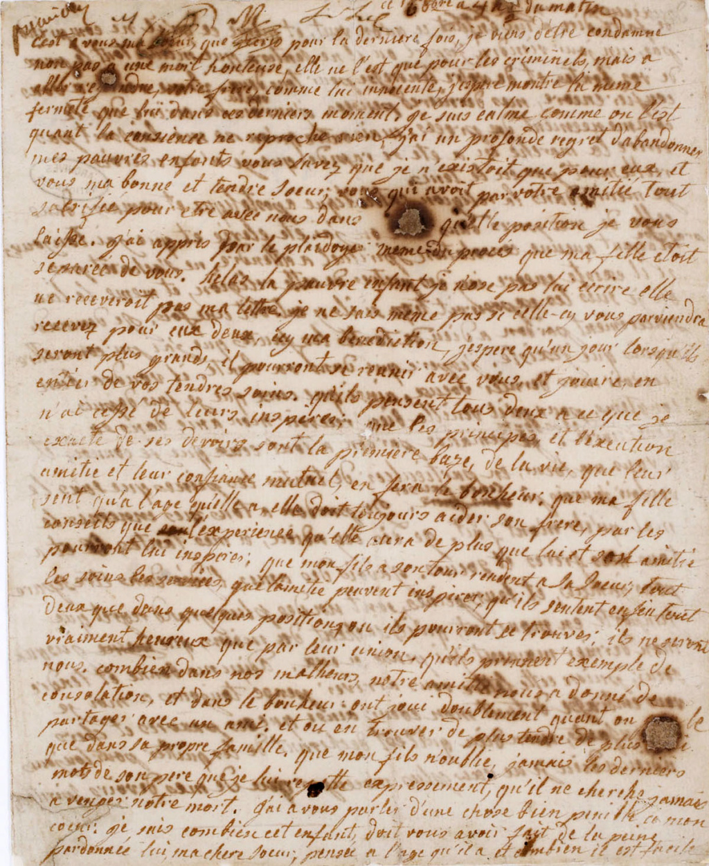 Testament / Lettre de Marie-Antoinette à Madame Elisabeth, le 16 octobre 1793 - Page 2 Derniz12