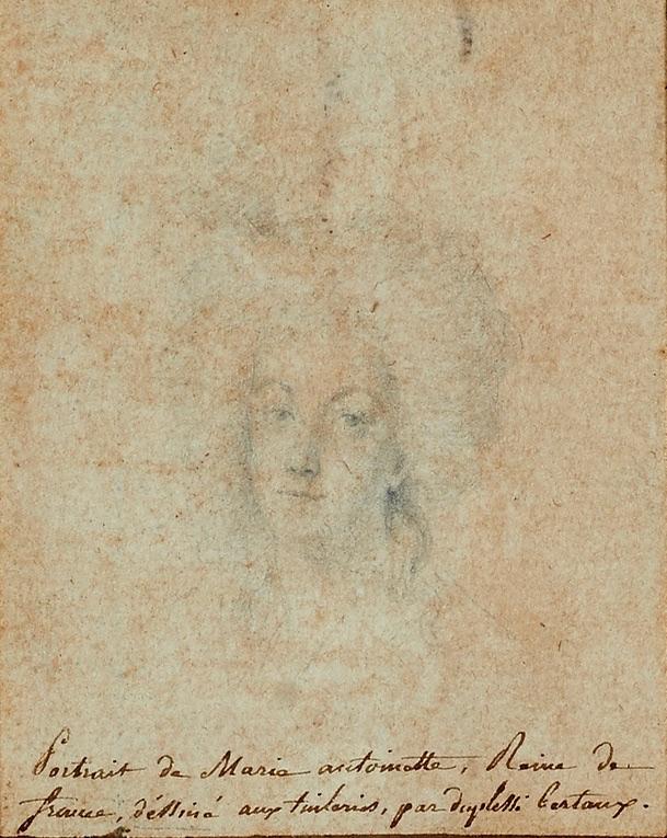 Portrait de Marie-Antoinette aux Tuileries par Duplessis-Bertaux (collection baronne de Rothschild) Fullsi10