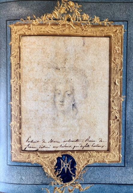 Portrait de Marie-Antoinette aux Tuileries par Duplessis-Bertaux (collection baronne de Rothschild) Img_0710