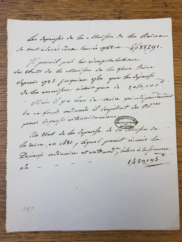 Marie-Antoinette était-elle dépensière ? Les comptes de la maison de la reine Img_1610
