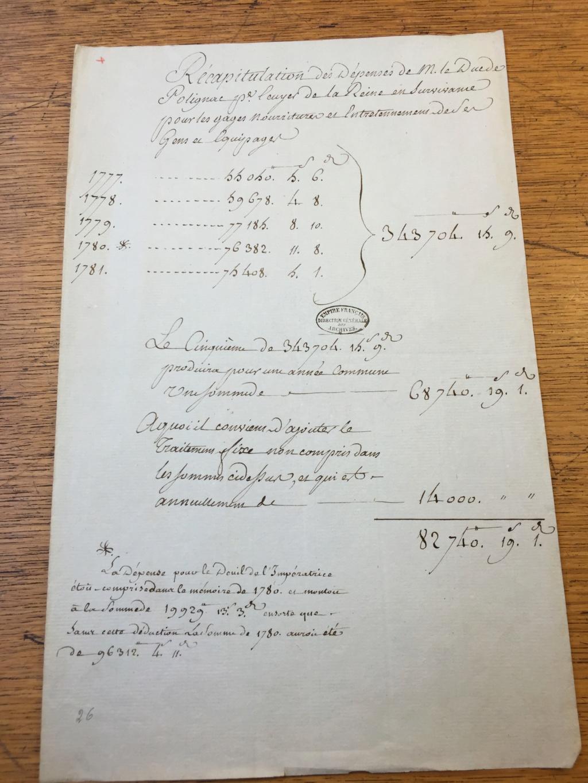 Marie-Antoinette était-elle dépensière ? Les comptes de la maison de la reine Img_1713