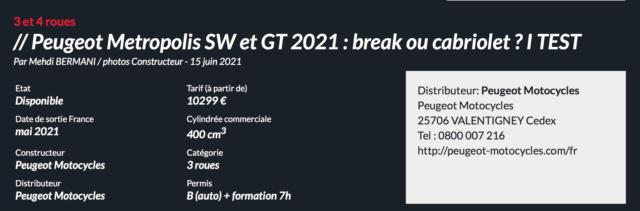 Peugeot Metropolis SW et GT 2021 : break ou cabriolet ? TEST Captur78
