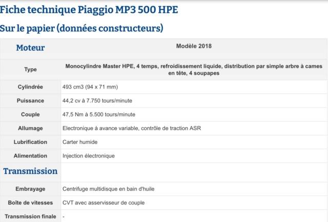 Caractéristiques techniques Mp3 500 Hpe Img_0715