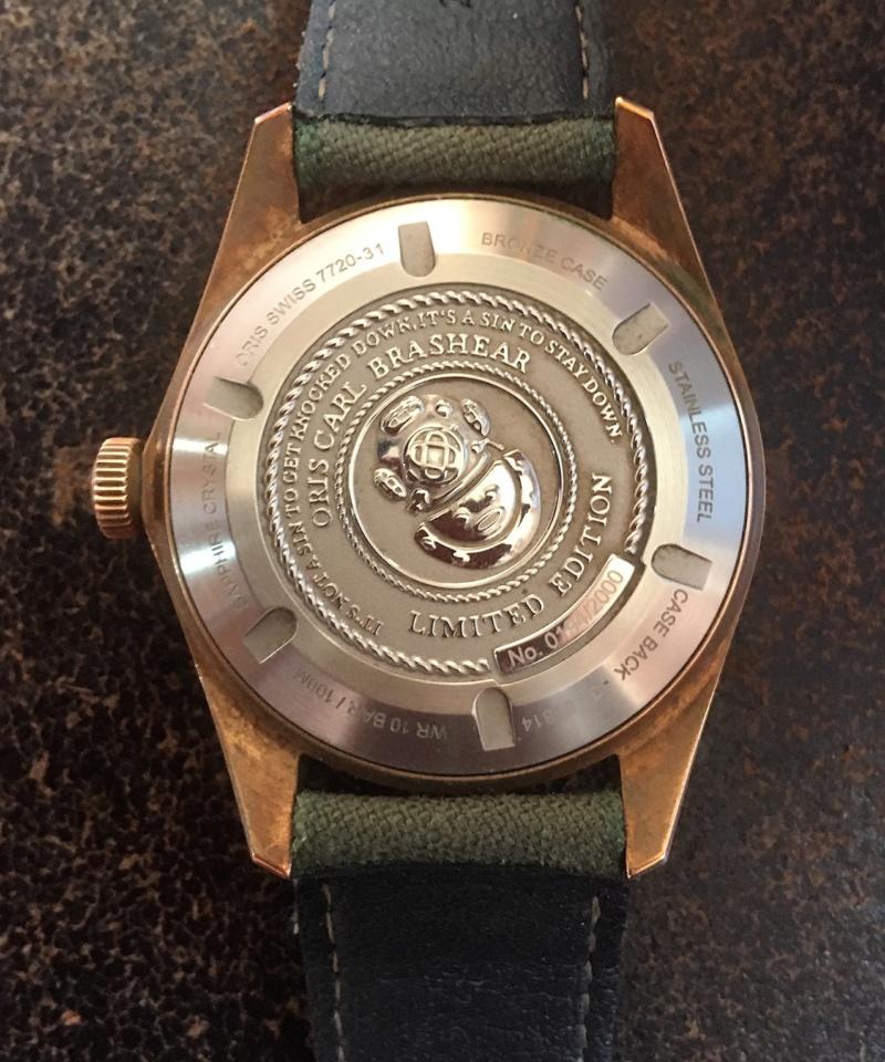 Vends Oris Carl Brashear Bronze sous garantie Img-1720