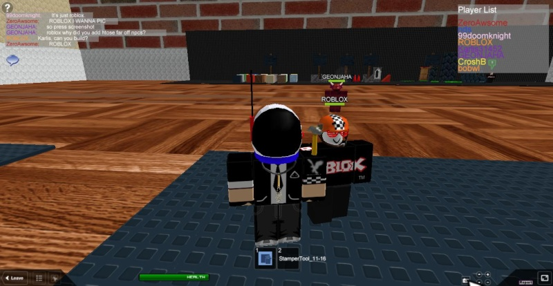 Meeting famous people on ROBLOX Roblox10