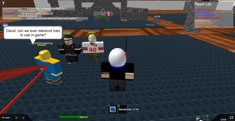 Meeting famous people on ROBLOX Roblox16
