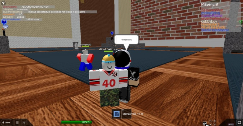 Meeting famous people on ROBLOX Roblox18
