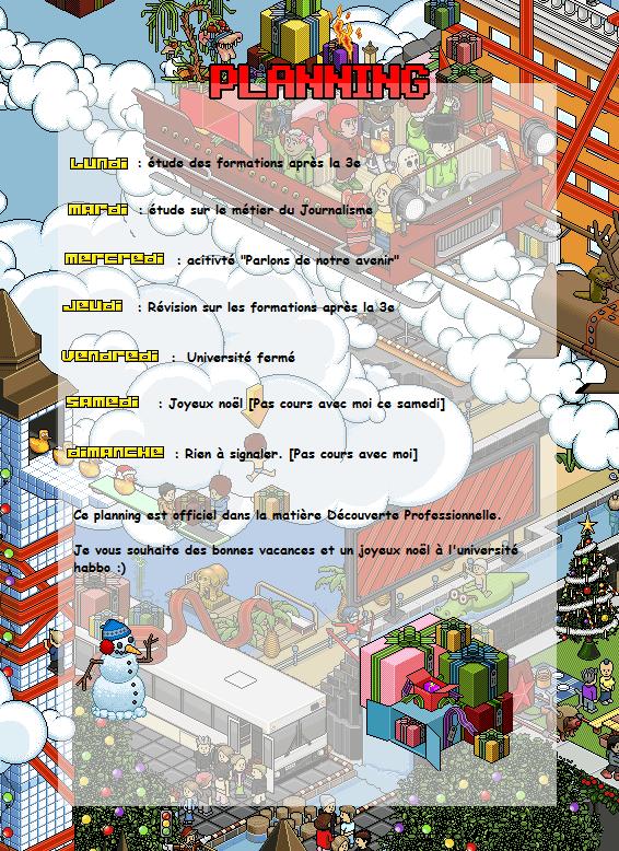 [20/12 au 26/12] Planning  Planni11