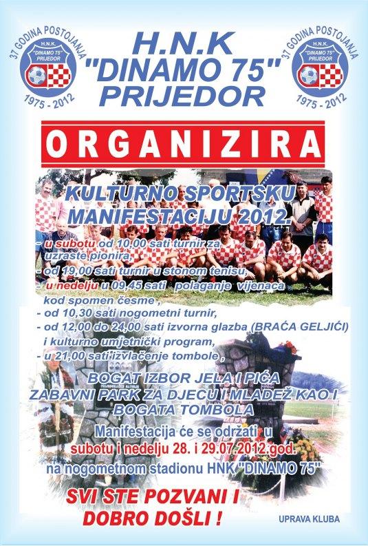 """KUD """"Izidor Poljak"""" na manifestaciji Prijedor 2012. Plakat10"""
