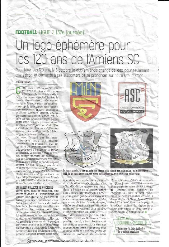 SPORT : Logo temporaire de l'Amiens SC Logo_110