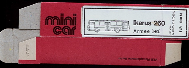 Omnibusse in 1:87 vor 1990 260-110