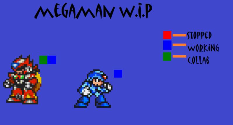 Megaman Sprites in Color Megama10