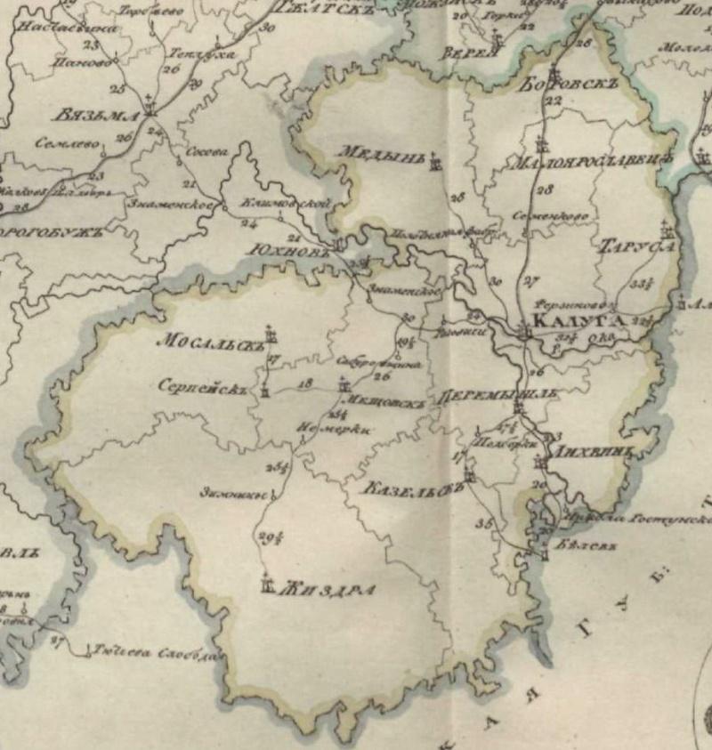 Карты Калужской губернии Dsdndd10