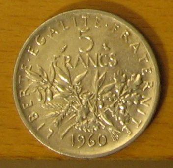 """Pièce de 5 francs """"Semeuse"""" de 1960 Pieces12"""