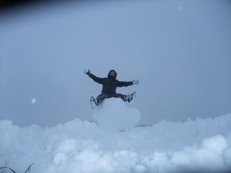 un de mes fils mon jardin sous la neige Dscf7110