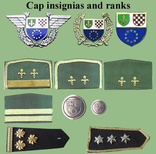 Insignias from Bosnia and Herzegovina (all three sides) Bih-210