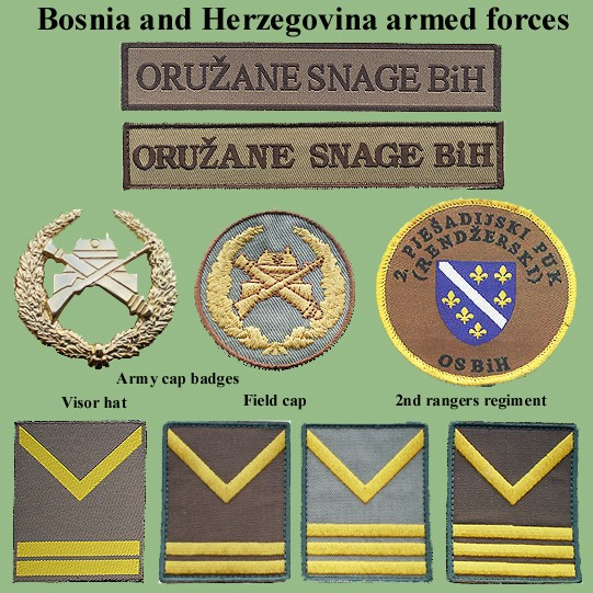 Insignias from Bosnia and Herzegovina (all three sides) Bih-sa10
