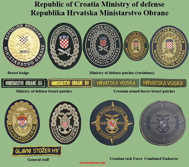 Croatian armed forces insignias Cro-110