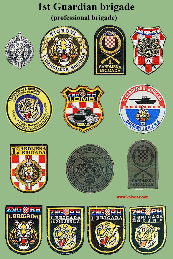 Croatian armed forces insignias Cro-1g10